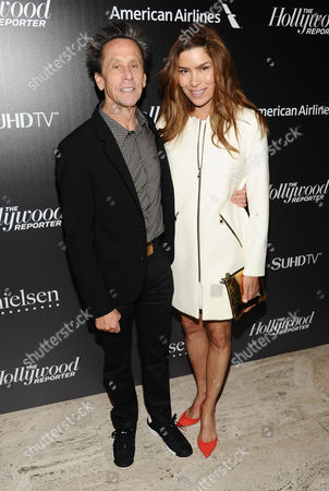 Brian Grazer, left, and Gigi Levangie Grazer attend The 35 Most Powerful People in Media hosted by The Hollywood Reporter at The Four Seasons Restaurant, in New York