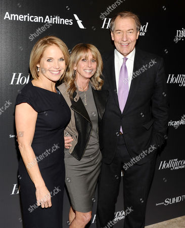 Katie Couric, from left, Bonnie Hammer and Charlie Rose attend The 35 Most Powerful People in Media hosted by The Hollywood Reporter at The Four Seasons Restaurant, in New York