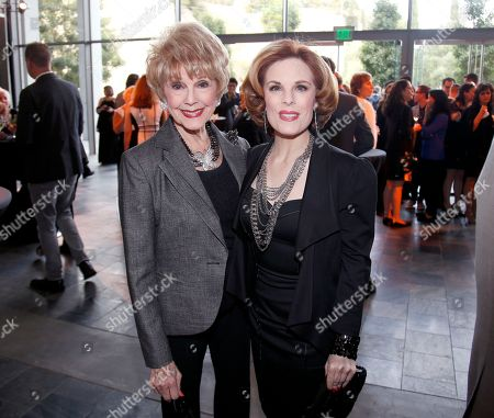 EXCLUSIVE -Karen Sharpe, left, and Kat Kramer attend the 37th College Television Awards at the Skirball Cultural Center, in Los Angeles