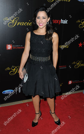 Nikki Boyer arrives at the 38th Annual Gracie Awards Gala at the Beverly Hilton Hotel on in Beverly Hills, Calif