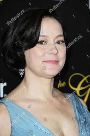 Meg Tilly arrives at the 38th Annual Gracie Awards Gala at the Beverly Hilton Hotel on in Beverly Hills, Calif