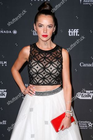 """Stock Picture of Tamara Duarte arrives at the 3rd Annual """"An Evening With Canada's Stars"""" the Four Seasons Hotel, in Beverly Hills, Calif"""