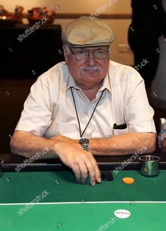 Screenwriter Carl Gottlieb plays poker at The Children's Charity Of Southern California Texas Hold 'Em Poker Tournament hosted by Variety at Paramount Studios on in Los Angeles, California