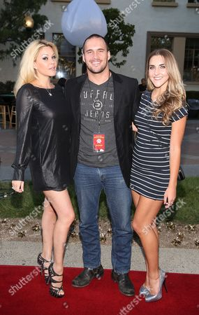 From left, Actress Shanna Moakler,Aactor Erik Aude and girlfriend Chanel Ross attend the 3rd Annual Variety Charity Texas Hold 'Em Tournament & Casino Game at Paramount Studios on July 17, 2013 in Hollywood, California., in Hollywood, California