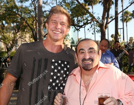 From left, actors Kenny Johnson and Ken Davitian attend the 3rd Annual Variety Charity Texas Hold 'Em Tournament & Casino Game at Paramount Studios on in Hollywood, California