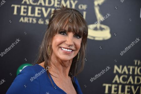Jess Walton arrives at the 41st annual Daytime Emmy Awards at the Beverly Hilton Hotel, in Beverly Hills, Calif