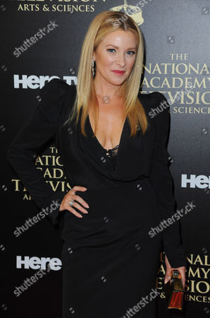 Cady McClain arrives at the 41st annual Daytime Emmy Awards at the Beverly Hilton Hotel, in Beverly Hills, Calif