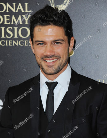 Ryan Paevey arrives at the 41st annual Daytime Emmy Awards at the Beverly Hilton Hotel, in Beverly Hills, Calif