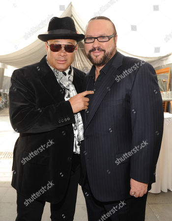 From left, producers Narada Michael Walden and Desmond Child attend ASCAP Presents The 2014 Grammy Nominee Brunch, at the SLS Hotel at Beverly Hills on in Beverly Hills, Calif