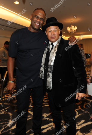 From left, John Platt and producer Narada Michael Walden attend ASCAP Presents The 2014 Grammy Nominee Brunch, at the SLS Hotel at Beverly Hills on in Beverly Hills, Calif