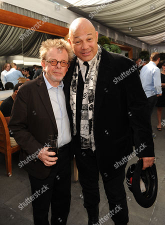 From left, ASCP president Paul Williams and producer Narada Michael Walden attend ASCAP Presents The 2014 Grammy Nominee Brunch, at the SLS Hotel at Beverly Hills on in Beverly Hills, Calif