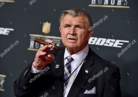 Former NFL player and coach Mike Ditka arrives at the 5th annual NFL Honors at the Bill Graham Civic Auditorium, in San Francisco