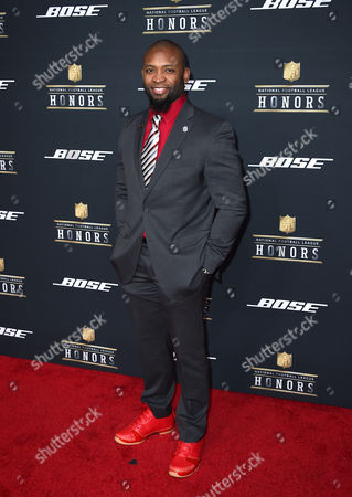 Former NFL player Ahman Green arrives at the 5th annual NFL Honors at the Bill Graham Civic Auditorium, in San Francisco