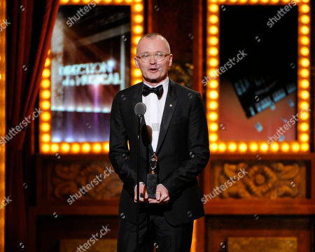 "Darko Tresnjak receives the award for best direction of a musical for ?""A Gentleman's Guide to Love & Murder?"" on stage at the 68th annual Tony Awards at Radio City Music Hall, in New York"