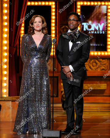 Karen Ziemba and Billy Porter onstage at the 68th annual Tony Awards at Radio City Music Hall, in New York