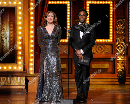 Stock Photo of Karen Ziemba and Billy Porter onstage at the 68th annual Tony Awards at Radio City Music Hall, in New York