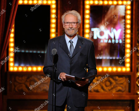 "Stock Image of Clint Eastwood presents Darko Tresnjak with the award for best direction of a musical for ?""A Gentleman's Guide to Love & Murder?"" on stage at the 68th annual Tony Awards at Radio City Music Hall, in New York"