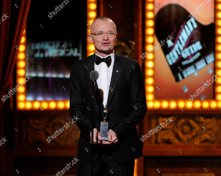 "Stock Photo of Darko Tresnjak receives the award for best direction of a musical for ?""A Gentleman's Guide to Love & Murder?"" on stage at the 68th annual Tony Awards at Radio City Music Hall, in New York"