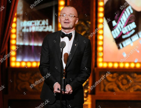 "Darko Tresnjak accepts the award for best direction of a musical for ""A Gentleman's Guide to Love & Murder"" onstage at the 68th annual Tony Awards at Radio City Music Hall, in New York"