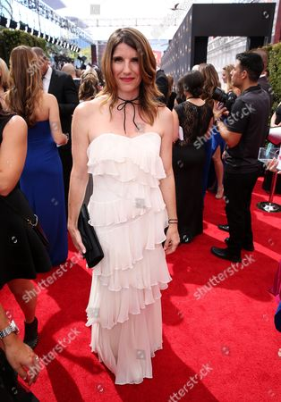 Mandy Fabian arrives at the 68th Primetime Emmy Awards, at the Microsoft Theater in Los Angeles