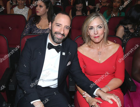 Tony Hale, left, and Martel Thompson appear in the audience at the 68th Primetime Emmy Awards, at the Microsoft Theater in Los Angeles