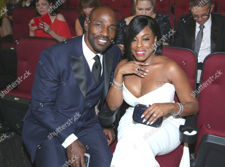 Jay Tucker, left and Niecy Nash appear in the audience at the 68th Primetime Emmy Awards, at the Microsoft Theater in Los Angeles