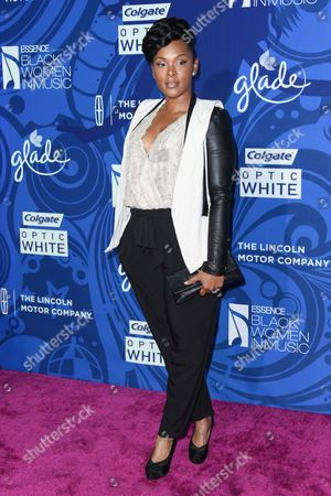 Keisha Epps arrives at the 6th Annual ESSENCE Black Woman In Music held at Avalon, in Los Angeles