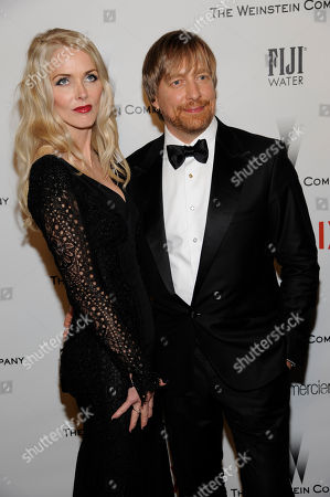 Janne Tyldum, left, and Morten Tyldum arrive at The Weinstein Company and Netflix Golden Globes afterparty at the Beverly Hilton Hotel, in Beverly Hills, Calif