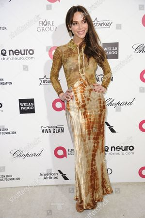 Oksana Grigorieva arrives at the 87th Academy Awards - 2015 Elton John AIDS Foundation Oscar Party, in West Hollywood, Calif