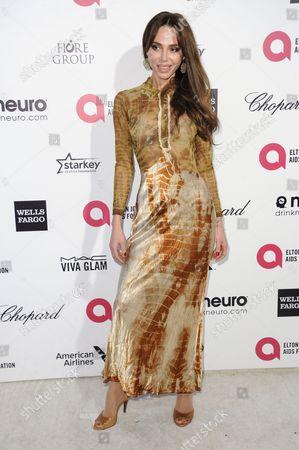 Stock Image of Oksana Grigorieva arrives at the 87th Academy Awards - 2015 Elton John AIDS Foundation Oscar Party, in West Hollywood, Calif