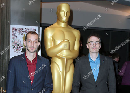 Anthony Stacchi, Graham Annable, arrive at 87th Academy Awards - Animated Features at Samuel Goldwyn Theater on Thursday, Feb.19, 2015, in Beverly Hills, Calif