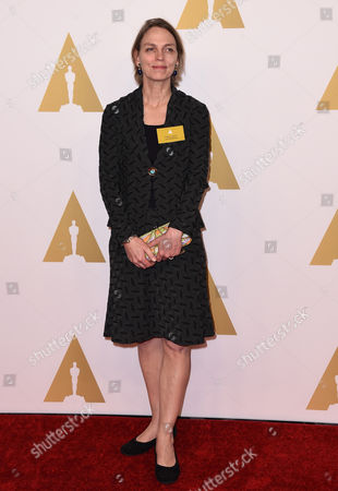 Torill Kove arrives at the 87th Academy Awards nominees luncheon at the Beverly Hilton Hotel, in Beverly Hills, Calif
