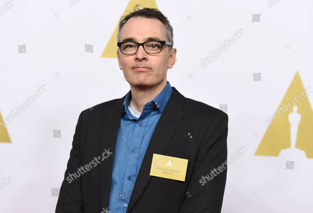 Graham Annable arrives at the 87th Academy Awards nominees luncheon at the Beverly Hilton Hotel, in Beverly Hills, Calif