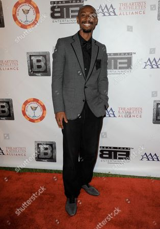 Darris Love arrives at the 8th Annual Bear Trap Entertainment All-Star Celebrity Kickoff Party at the Playboy Mansion on in Los Angeles