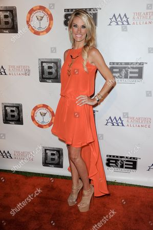 Emily Dees Boulden arrives at the 8th Annual Bear Trap Entertainment All-Star Celebrity Kickoff Party at the Playboy Mansion on in Los Angeles