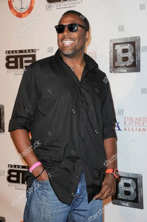 Cedric Ceballos arrives at the 8th Annual Bear Trap Entertainment All-Star Celebrity Kickoff Party at the Playboy Mansion on in Los Angeles