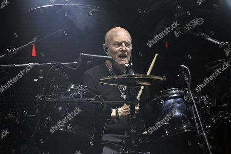 Chris Slade with AC/DC performs at Philips Arena, in Atlanta