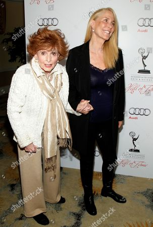MARCH 1: Patricia Barry and guest arrives at the Academy of Television Arts & Sciences 21st Annual Hall of Fame Ceremony at the Beverly Hills Hotel on in Beverly Hills, California