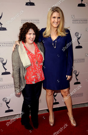 """MARCH 26: (L-R) Creators/executive producers Eileen Heisler and DeAnn Heline arrive at the Academy of Television Arts & Sciences Presents an Evening with """"The Middle"""" on in North Hollywood, California"""
