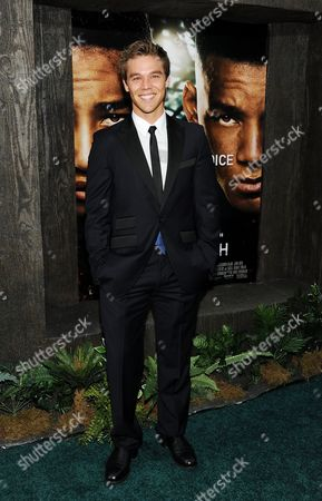 """Actor Lincoln Lewis attends the """"After Earth"""" premiere at the Ziegfeld Theatre on in New York"""