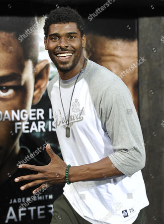 """NFL player Ramses Barden attends the """"After Earth"""" premiere at the Ziegfeld Theatre on in New York"""
