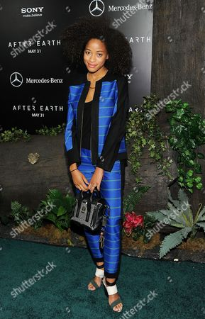 """Stock Image of Singer Kilo Kish attends the """"After Earth"""" premiere at the Ziegfeld Theatre on in New York"""