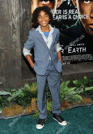 """Actor Jaden Martin attends the """"After Earth"""" premiere at the Ziegfeld Theatre on in New York"""