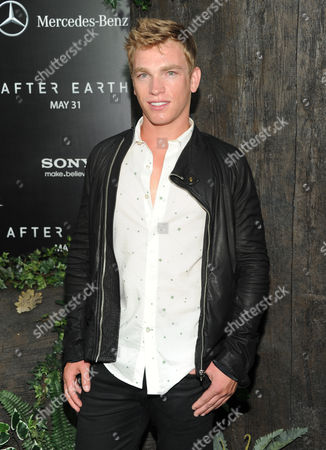 """Nick Gruber attends the """"After Earth"""" premiere at the Ziegfeld Theatre on in New York"""