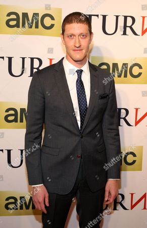 Actor Samuel Roukin attends the premiere of AMC's new series TURN at The National Archives on in Washington, DC