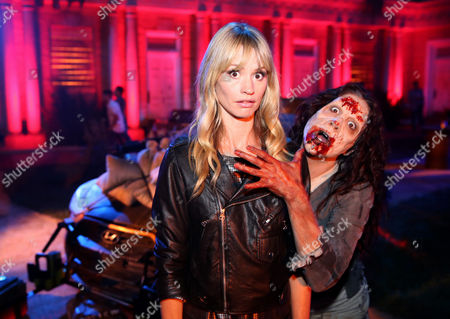 "EXCLUSIVE - Cameron Richardson attends AMC's season 4 premiere of ""The Walking Dead"" at Universal Studios, in Los Angeles"
