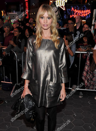 "Cameron Richardson attends AMC's season 4 premiere of ""The Walking Dead"" at the AMC Universal CityWalk Stadium, in Los Angeles"