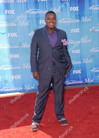Jacob Lusk arrives at the American Idol Finale on in Los Angeles