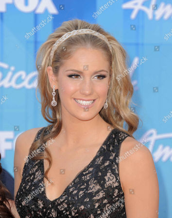 Stock Photo of Shannon Magrane arrives at the American Idol Finale on in Los Angeles