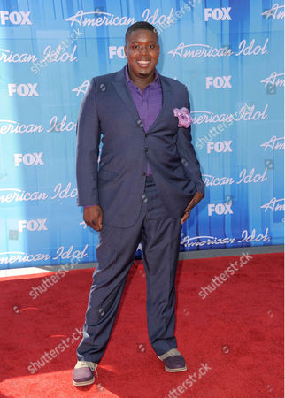 Stock Picture of Jacob Lusk arrives at the American Idol Finale on in Los Angeles